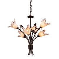 Fioritura 6 Light 22 inch Aged Bronze Chandelier Ceiling Light