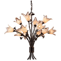 ELK Lighting Fioritura 12 Light Chandelier in Aged Bronze 7959/8+4