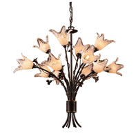Fioritura 12 Light 29 inch Aged Bronze Chandelier Ceiling Light