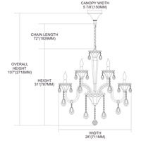 Nulco by ELK Lighting Formont 9 Light Chandelier in Clear 80003/6+3 alternative photo thumbnail