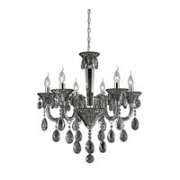 ELK 80012/6 Formont 6 Light 25 inch Smoke Plated Chandelier Ceiling Light