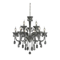 ELK 80013/6+3 Formont 9 Light 28 inch Smoke Plated Chandelier Ceiling Light photo thumbnail