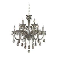 ELK 80023/6+3 Formont 9 Light 28 inch Teak Plated Chandelier Ceiling Light