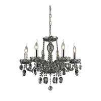 ELK 80042/6 Balmoral 6 Light 20 inch Smoke Plated Chandelier Ceiling Light