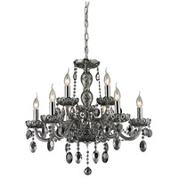 Balmoral 9 Light 27 inch Smoke Plated Chandelier Ceiling Light
