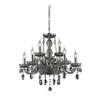 ELK 80043/6+3 Balmoral 9 Light 27 inch Smoke Plated Chandelier Ceiling Light photo thumbnail