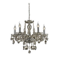 Nulco by ELK Lighting Balmoral 6 Light Chandelier in Teak Plated 80052/6