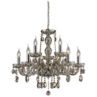 Balmoral 9 Light 27 inch Teak Plated Chandelier Ceiling Light
