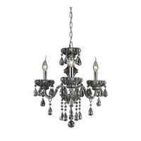 Nulco by ELK Lighting Cotswold 3 Light Chandelier in Smoke Plated 80071/3
