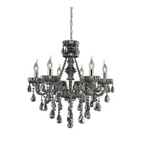 Nulco by ELK Lighting Cotswold 6 Light Chandelier in Smoke Plated 80072/6 photo thumbnail