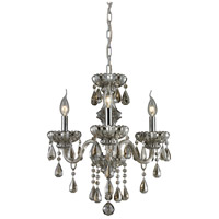 ELK 80081/3 Cotswold 3 Light 16 inch Teak Plated Chandelier Ceiling Light