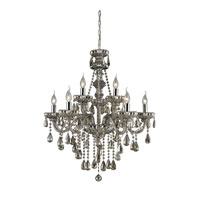 ELK 80083/6+3 Cotswold 9 Light 28 inch Teak Plated Chandelier Ceiling Light
