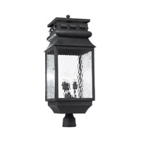 ELK Lighting Lancaster 3 Light Outdoor Post Light in Charcoal 803-C