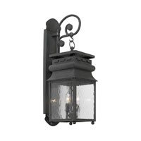 Lancaster 2 Light 26 inch Charcoal Outdoor Sconce