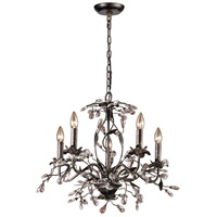 Circeo 5 Light 21 inch Deep Rust Chandelier Ceiling Light