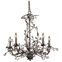 Circeo 5 Light 34 inch Deep Rust Chandelier Ceiling Light