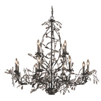 ELK Lighting Circeo 12 Light Chandelier in Deep Rust 8055/8+4