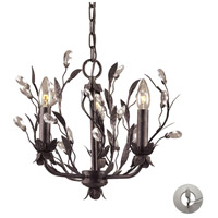 ELK Lighting Circeo 3 Light Chandelier in Deep Rust 8058/3-LA photo thumbnail