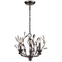 Circeo 3 Light 16 inch Deep Rust Chandelier Ceiling Light in Standard