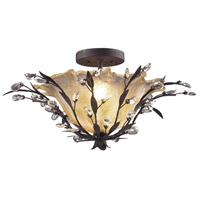 Circeo 2 Light 24 inch Deep Rust Semi-Flush Mount Ceiling Light