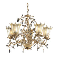 CIRCEO VETRO 5 Light 28 inch Russet Beige Chandelier Ceiling Light