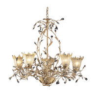 ELK Lighting Circeo Vetro 5 Light Chandelier in Russet Beige 8066/5