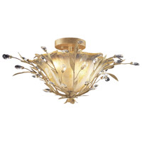 Circeo Vetro 2 Light 24 inch Russet Beige Semi-Flush Mount Ceiling Light
