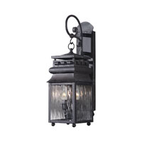 ELK Lighting Lancaster 2 Light Outdoor Sconce in Charcoal 807-C