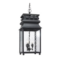 ELK Lighting Lancaster 3 Light Outdoor Pendant in Charcoal 808-C