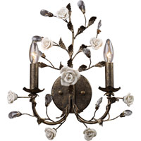 ELK Lighting Heritage 2 Light Sconce in Deep Rust 8080/2