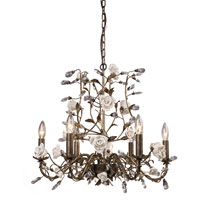 Elk Lighting Heritage 6 Light Chandelier In Deep Rust 8082/6