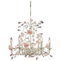 Heritage 6 Light 22 inch Cream Chandelier Ceiling Light