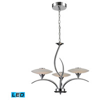 ELK 81003/3 Catalana LED 24 inch Chrome Chandelier Ceiling Light
