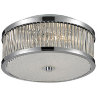 ELK 81040/3 Amersham 3 Light 12 inch Chrome Flush Mount Ceiling Light