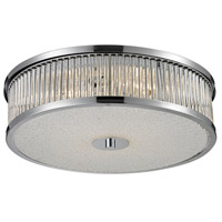 ELK 81041/4 Amersham 4 Light 16 inch Chrome Flush Mount Ceiling Light