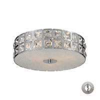 Nulco by ELK Lighting Wickham 3 Light Flush Mount in Chrome 81080/3-LA