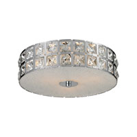 Wickham 3 Light 12 inch Chrome Flush Mount Ceiling Light in Standard