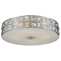 Wickham 4 Light 16 inch Chrome Flush Mount Ceiling Light