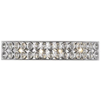 Tessa 4 Light 27 inch Polished Chrome Vanity Wall Light