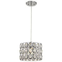 ELK 81153/1-LA Tessa 1 Light 10 inch Polished Chrome Mini Pendant Ceiling Light in Recessed Adapter Kit