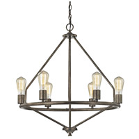 Galaway 6 Light 25 inch Windswept Silver Chandelier Ceiling Light