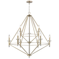 Lacombe 9 Light 36 inch Aged Silver Chandelier Ceiling Light