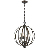 ELK 81264/4 Duvoux 4 Light 17 inch Oil Rubbed Bronze Pendant Ceiling Light