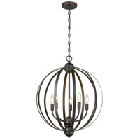 ELK 81265/5 Duvoux 5 Light 21 inch Oil Rubbed Bronze Pendant Ceiling Light