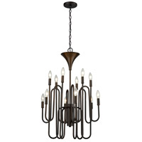 ELK 81287/12 Decatur 12 Light 22 inch Oil Rubbed Bronze Chandelier Ceiling Light photo thumbnail