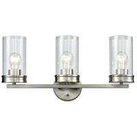 ELK 81302/3 Leland 3 Light 22 inch Satin Nickel Vanity Light Wall Light