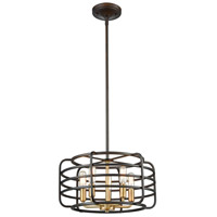 ELK 81315/5 Capistrano 5 Light 16 inch Oil Rubbed Bronze with Satin Brass Pendant Ceiling Light