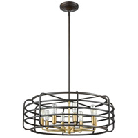 ELK 81316/8 Capistrano 8 Light 24 inch Oil Rubbed Bronze with Satin Brass Pendant Ceiling Light alternative photo thumbnail