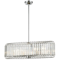 Beaumont 6 Light 32 inch Polished Chrome Billiard Island Ceiling Light