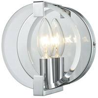 ELK 81340/1 Clasped Glass 1 Light 6 inch Polished Chrome Vanity Light Wall Light
